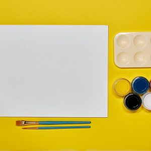 painting supplies that come together in a small kit